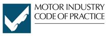 We are members and supporters of the Motor Industry Code of Practice